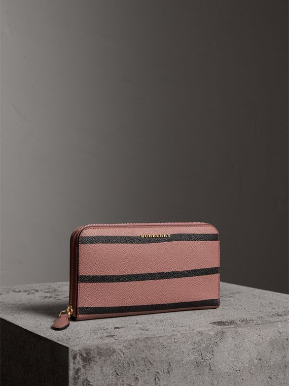Trompe L'oeil Print Leather Ziparound Wallet - Women | Burberry Australia