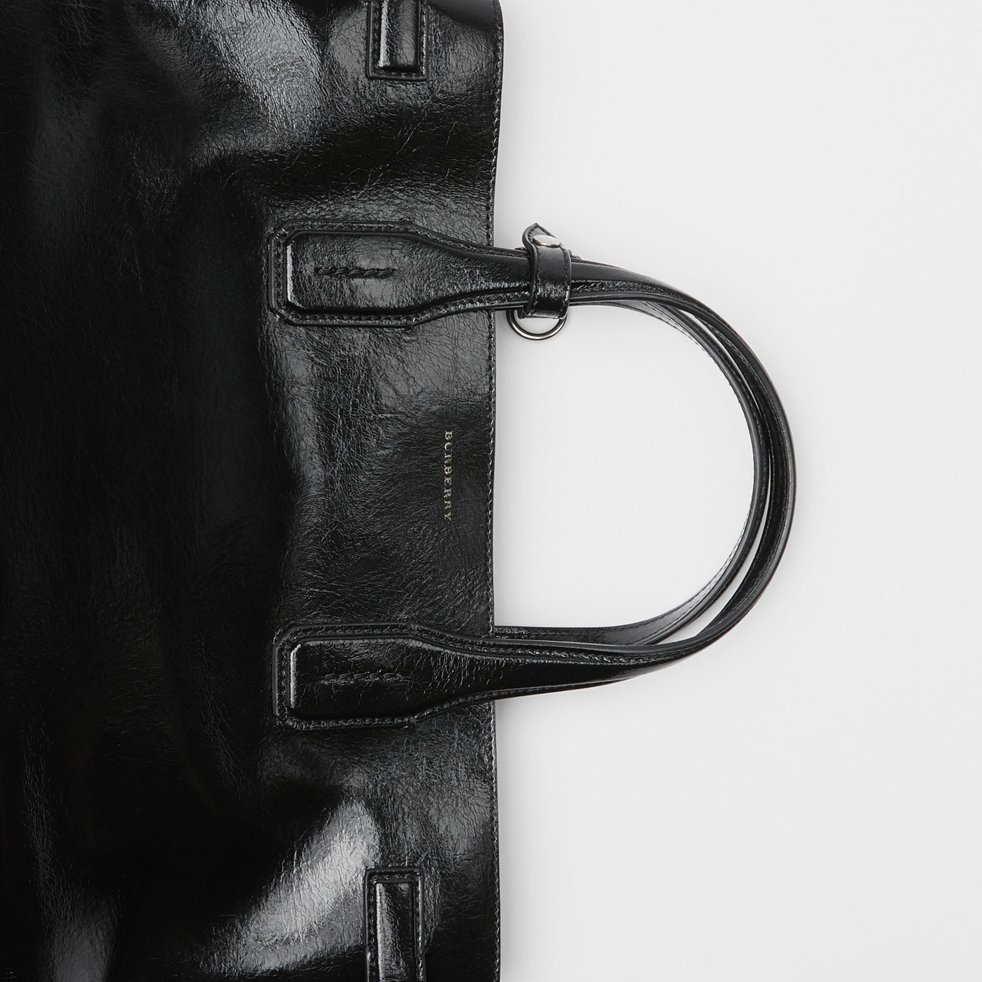 The Medium Soft Leather Banner in Black - Women | Burberry - gallery image 1