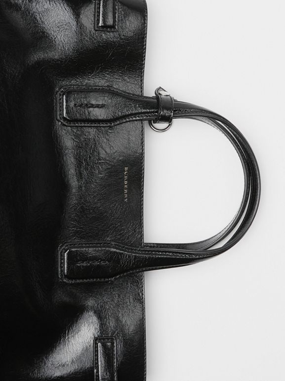 The Medium Soft Leather Banner in Black - Women | Burberry Singapore - cell image 1