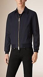 Check Detail Cotton Blend Jacket