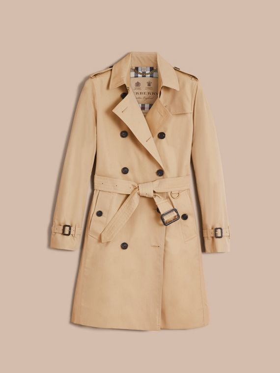 The Kensington – Long Heritage Trench Coat in Honey - Women | Burberry - cell image 3