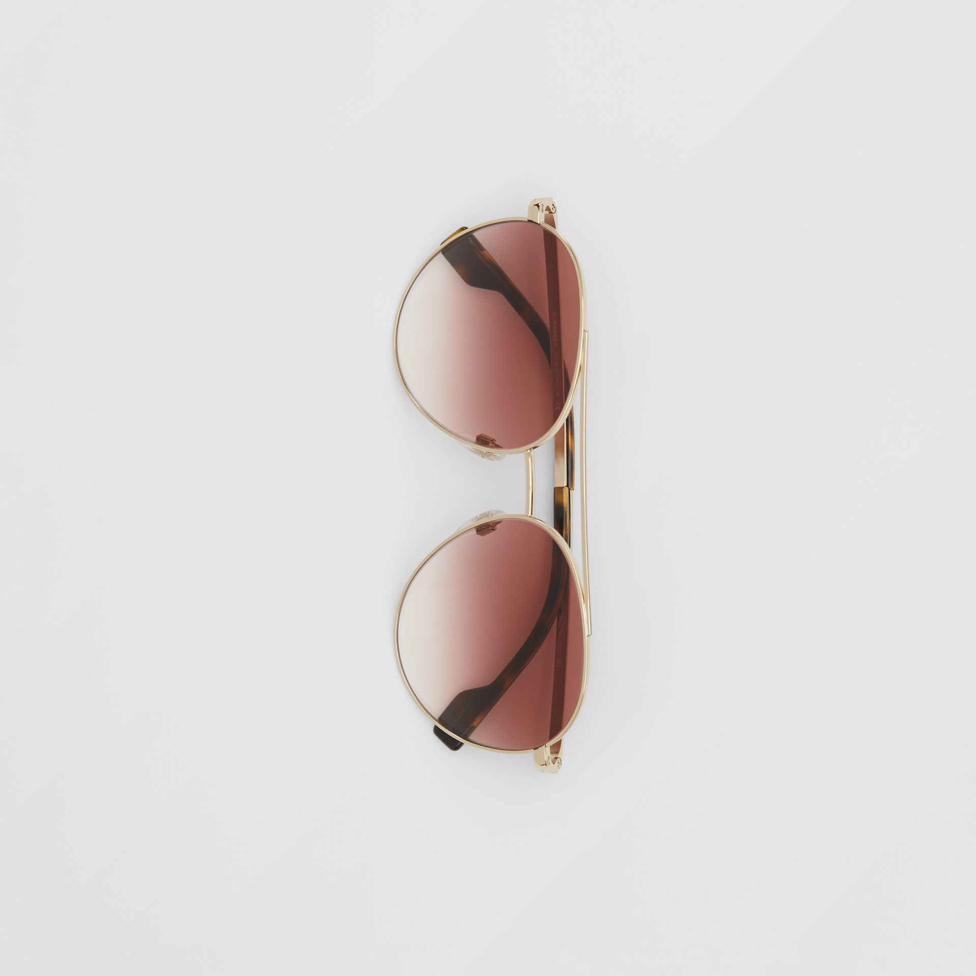 Pilot Sunglasses in Light Pink - Women | Burberry United Kingdom - gallery image 2