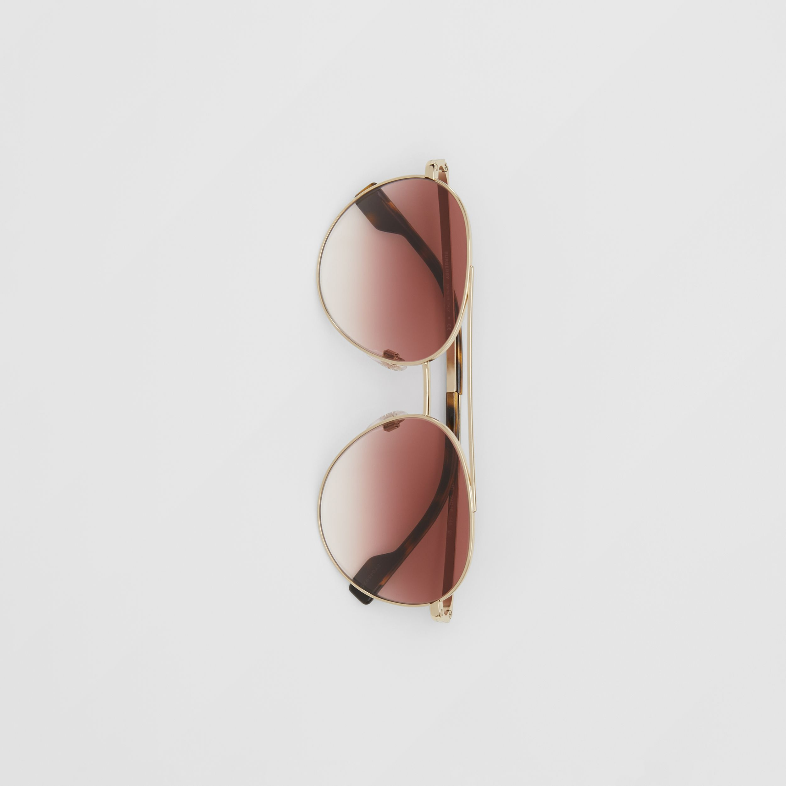 Pilot Sunglasses in Light Pink | Burberry - 4
