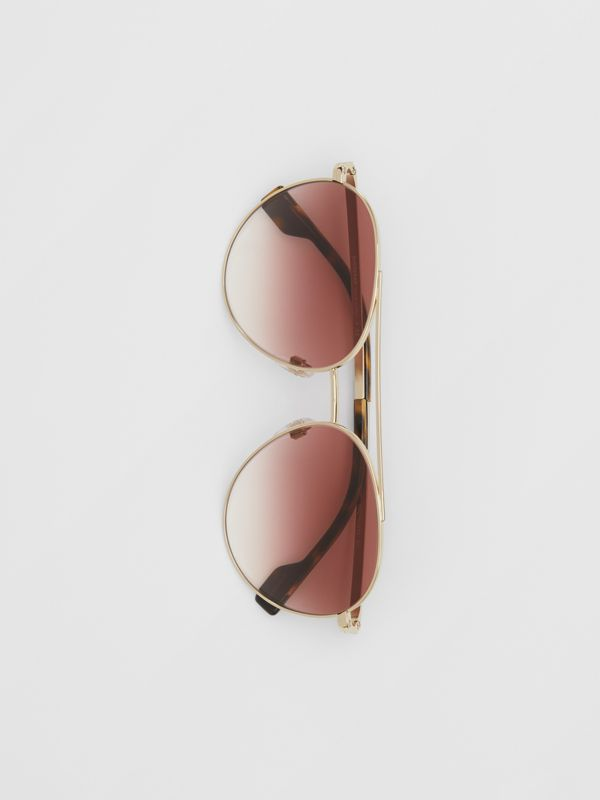 Pilot Sunglasses in Light Pink - Women | Burberry United Kingdom - cell image 2