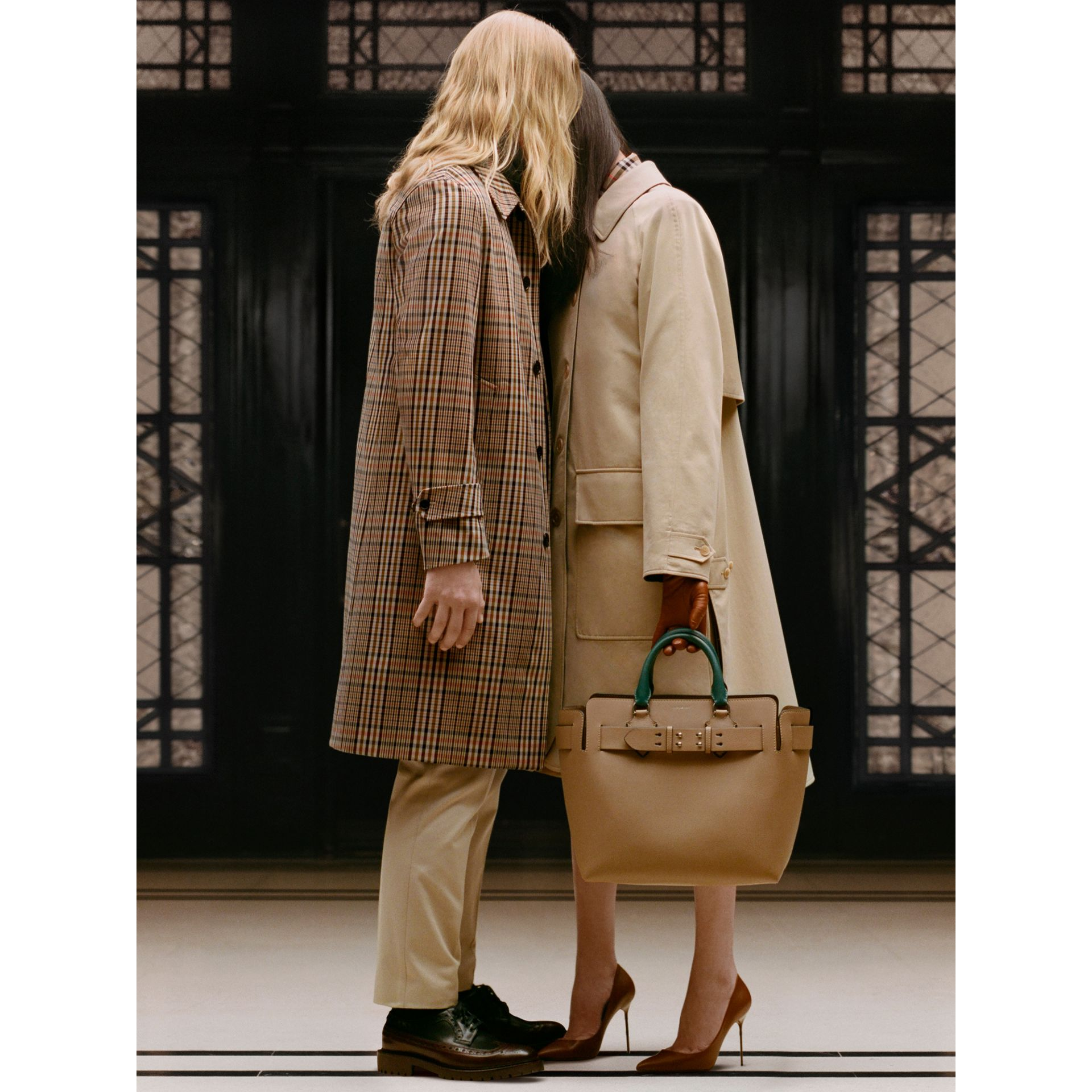Wool-lined Tropical Gabardine Car Coat in Honey - Women | Burberry United States - gallery image 1