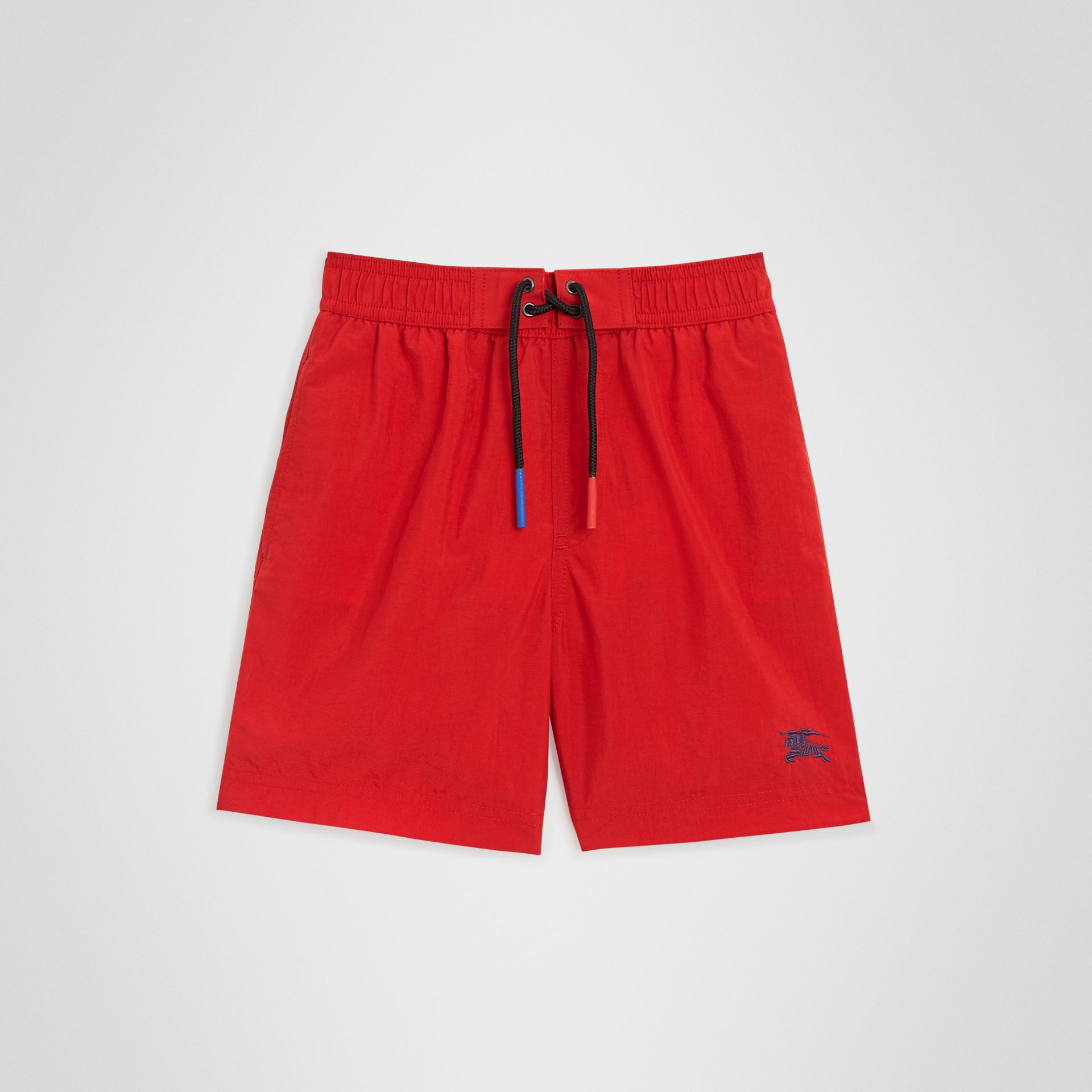 Drawcord Swim Shorts in Military Red | Burberry United States - gallery image 0