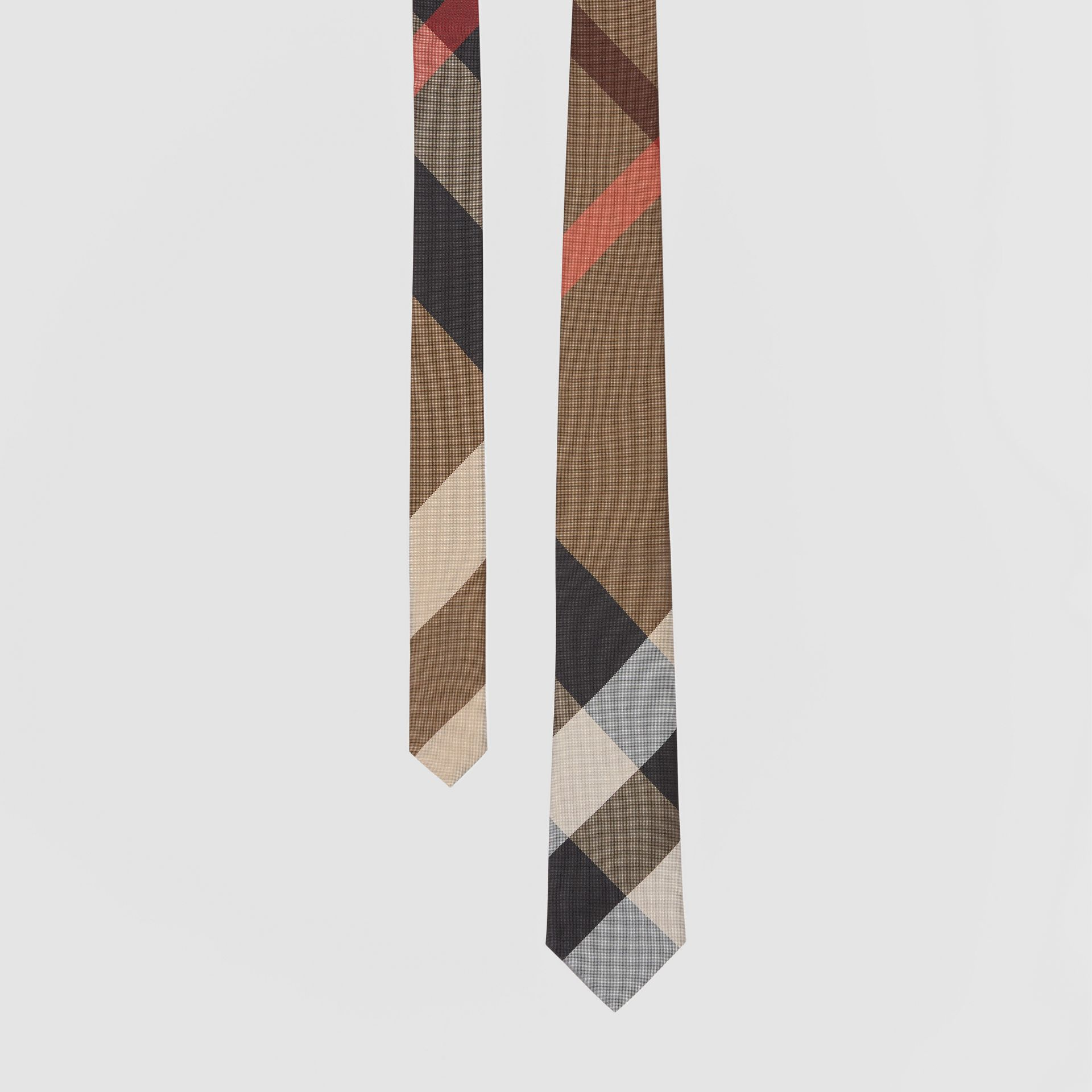 Classic Cut Check Silk Jacquard Tie in Bright Toffee - Men | Burberry Singapore - gallery image 0
