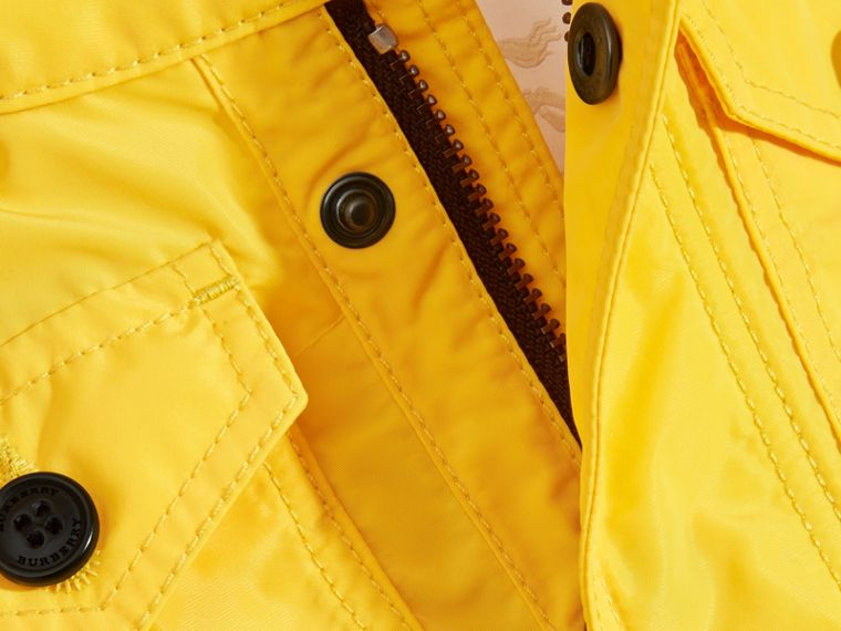 Bright yellow Hooded Technical Jacket Bright Yellow - cell image 1