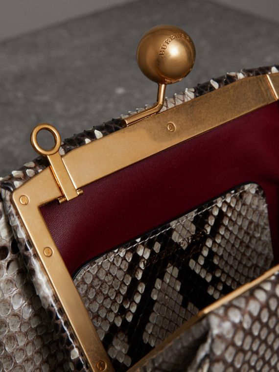 Small Python Frame Bag in Natural - Women | Burberry Singapore - cell image 3