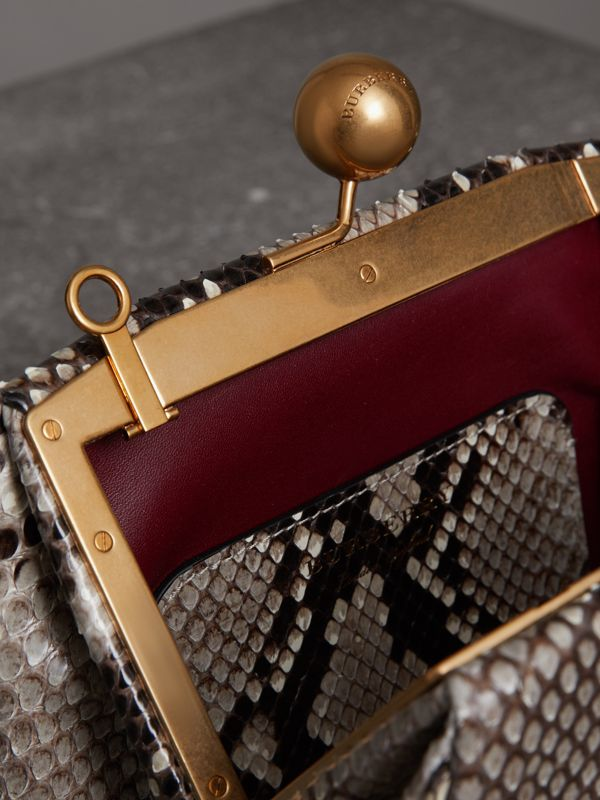 Small Python Frame Bag in Natural - Women | Burberry - cell image 3