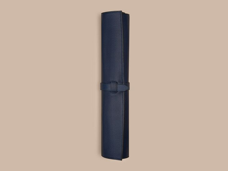 Bright navy Leather Travel Backgammon Set Bright Navy - cell image 2