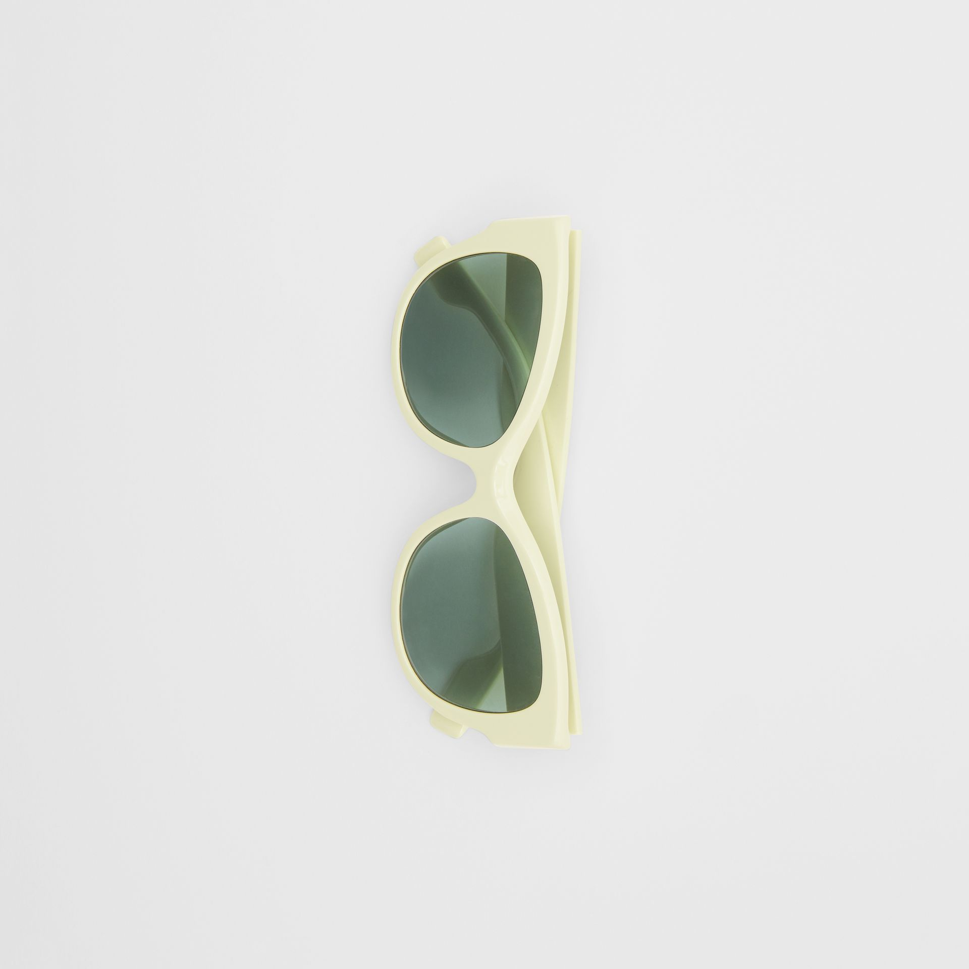 Butterfly Frame Sunglasses in Pistachio - Women | Burberry - gallery image 3
