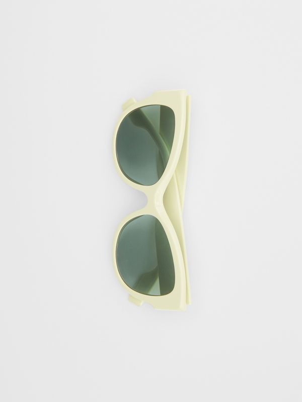 Butterfly Frame Sunglasses in Pistachio - Women | Burberry - cell image 3