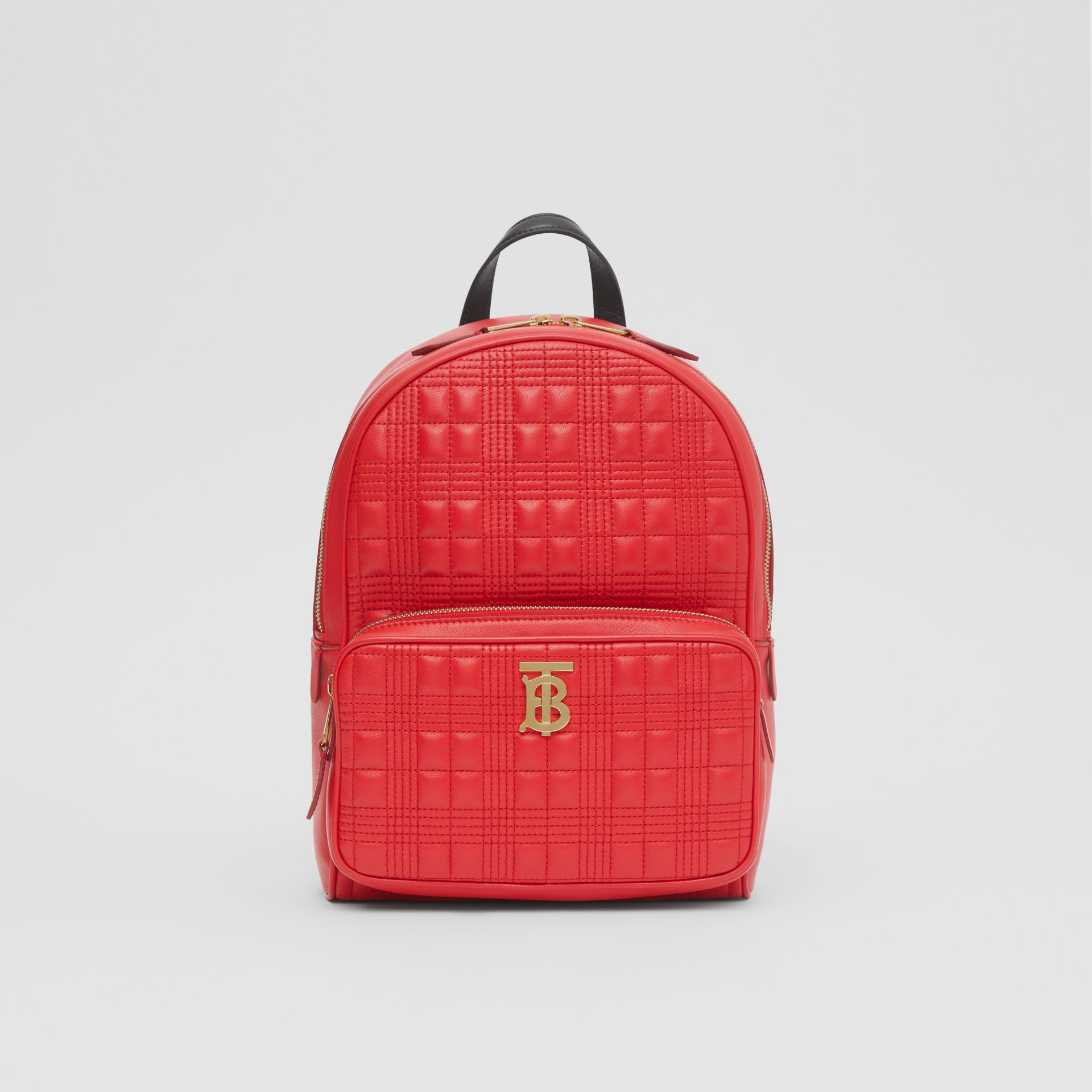 Quilted Lambskin Backpack in Bright Red | Burberry - gallery image 0