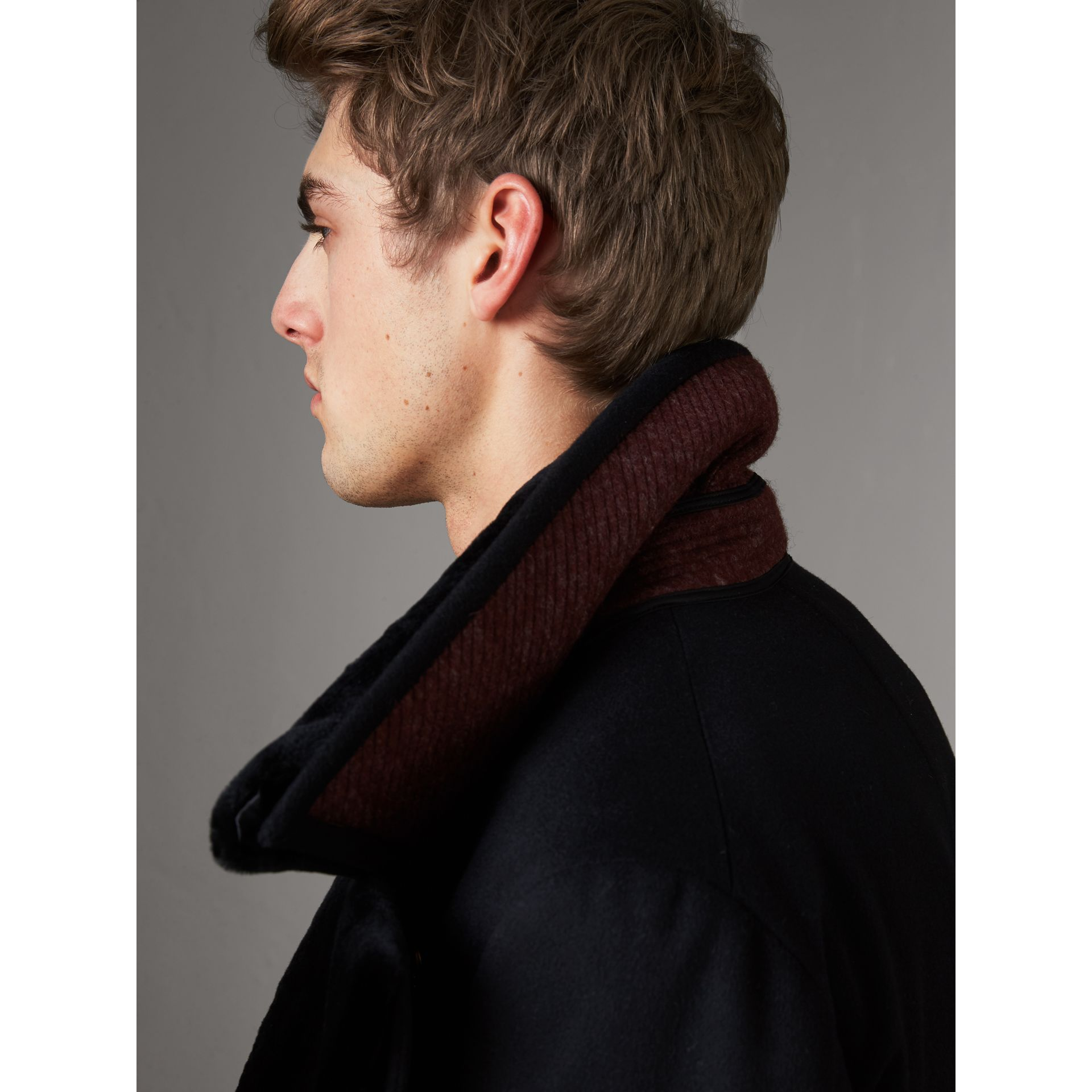 Detachable Mink Collar Cashmere Wool Greatcoat in Black - Men | Burberry United Kingdom - gallery image 5