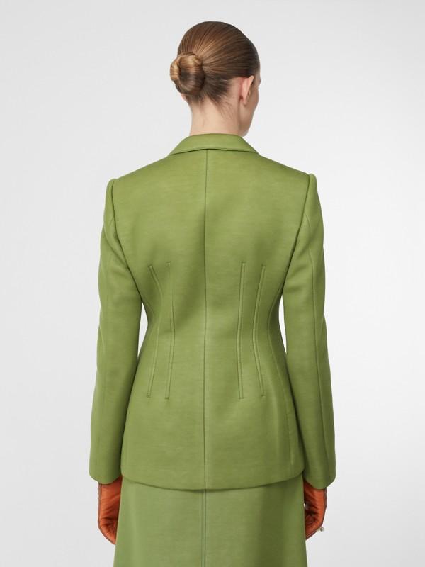 雙面氯丁橡膠套量裁製外套 (雪松綠) - 女款 | Burberry - cell image 2