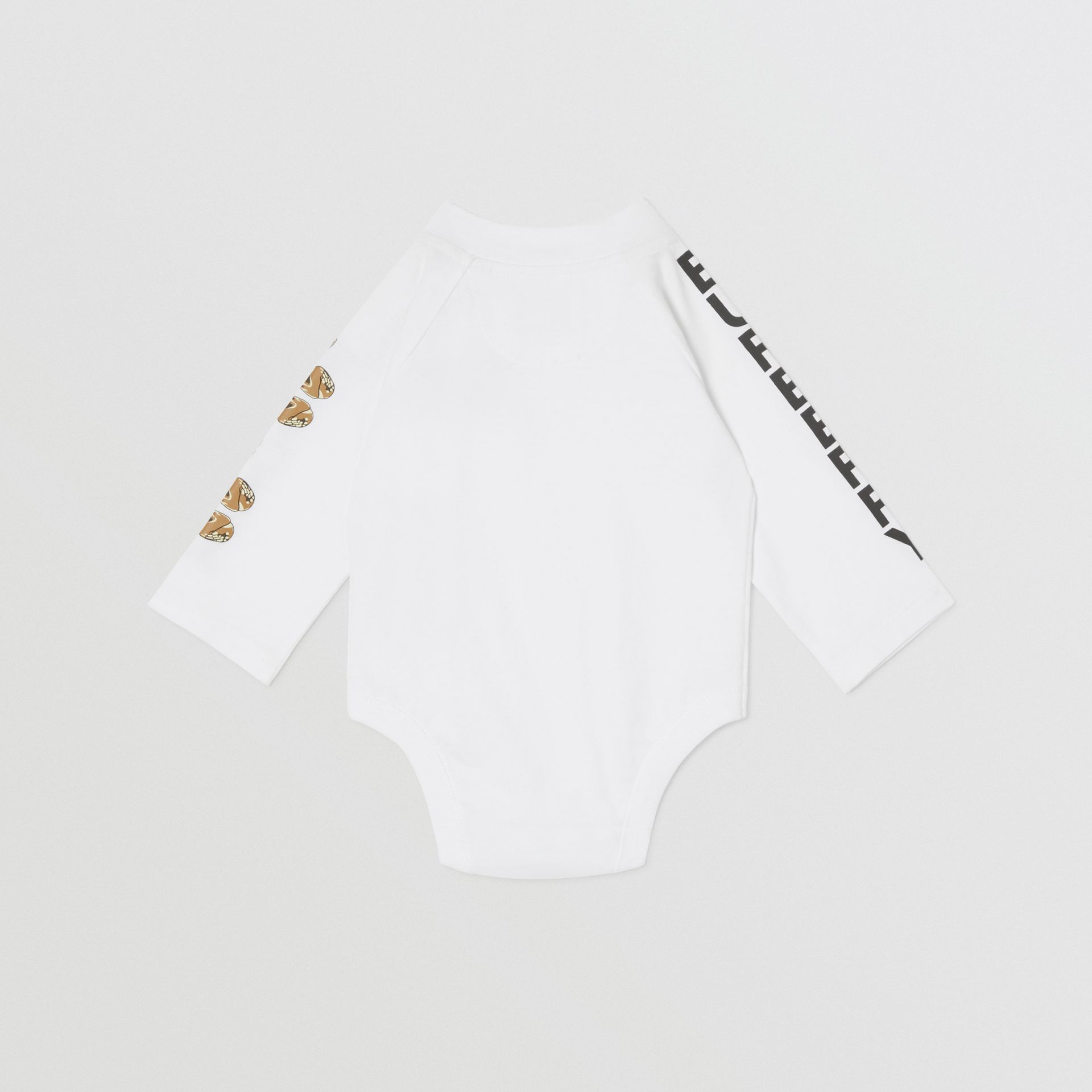 Check Trim Organic Cotton Two-piece Baby Gift Set in White - Children   Burberry United Kingdom - gallery image 5