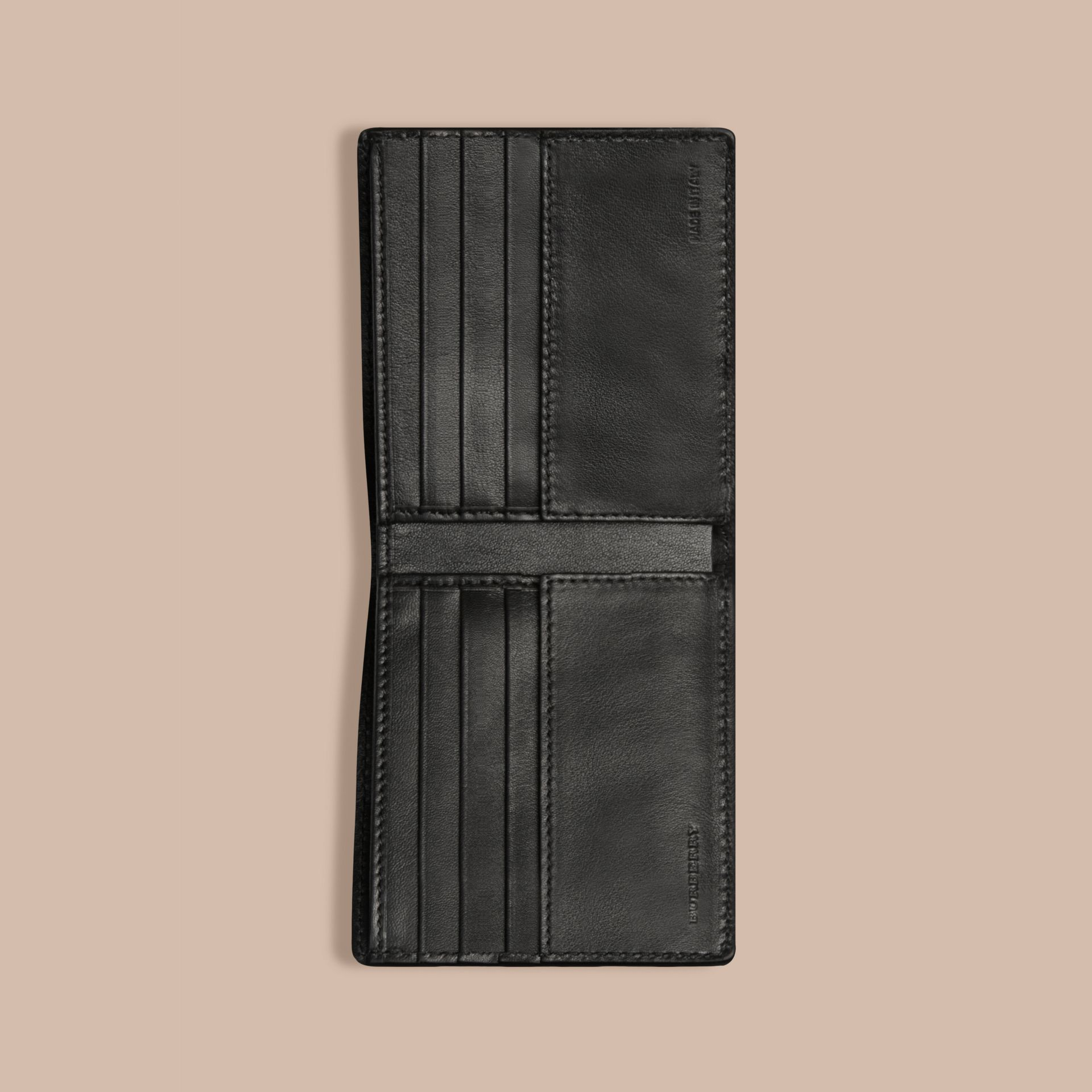 Black Lizard Folding Wallet - gallery image 2