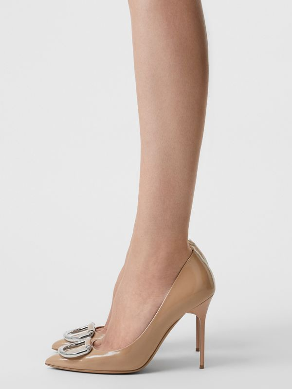 The Leather D-ring Stiletto in Nude Blush - Women | Burberry Canada - cell image 2