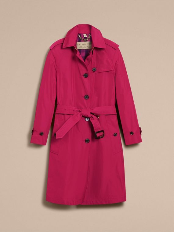 Single-breasted Technical Trench Coat Damson Magenta - cell image 3