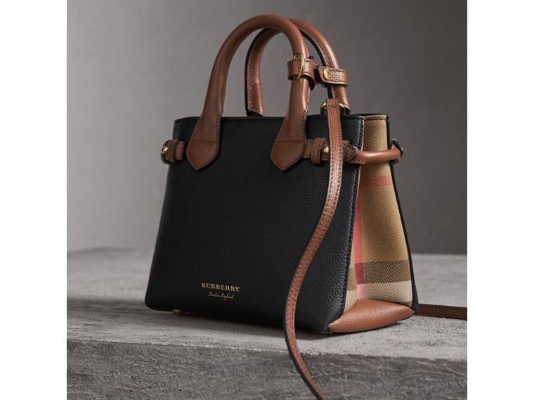 Borsa The Baby Banner in pelle con motivo House check - Donna | Burberry - cell image 4