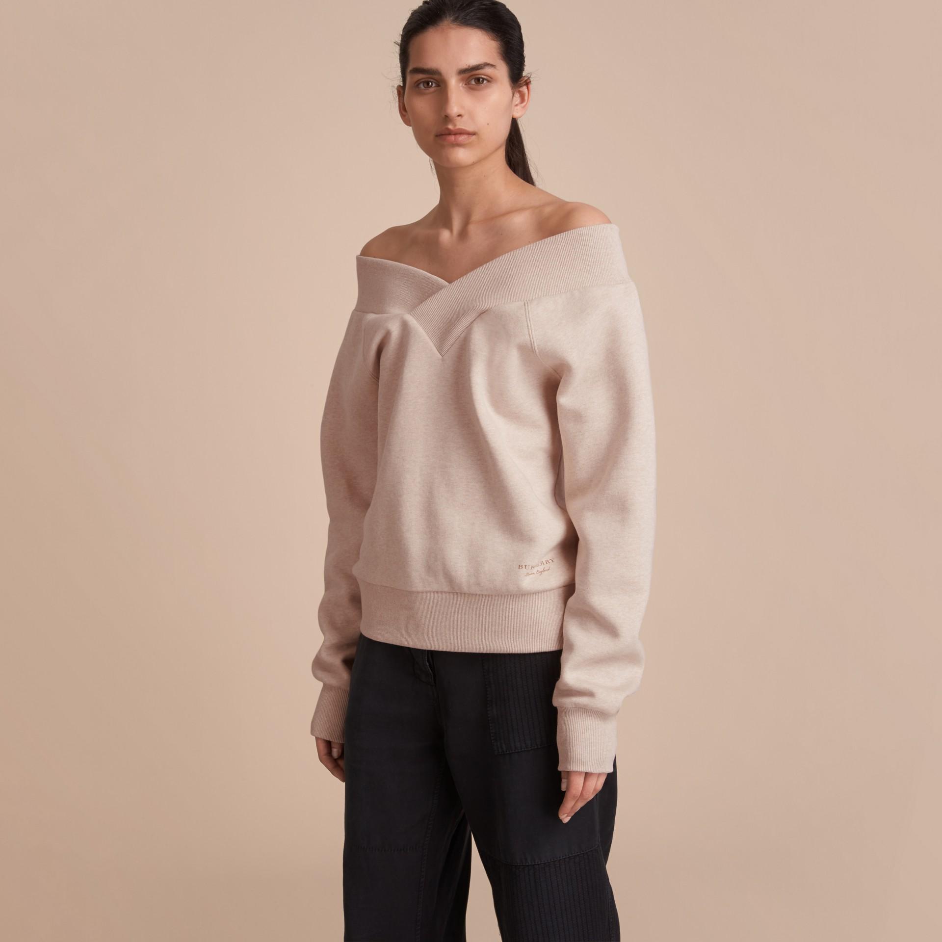 Off-the-shoulder Sweatshirt - gallery image 6