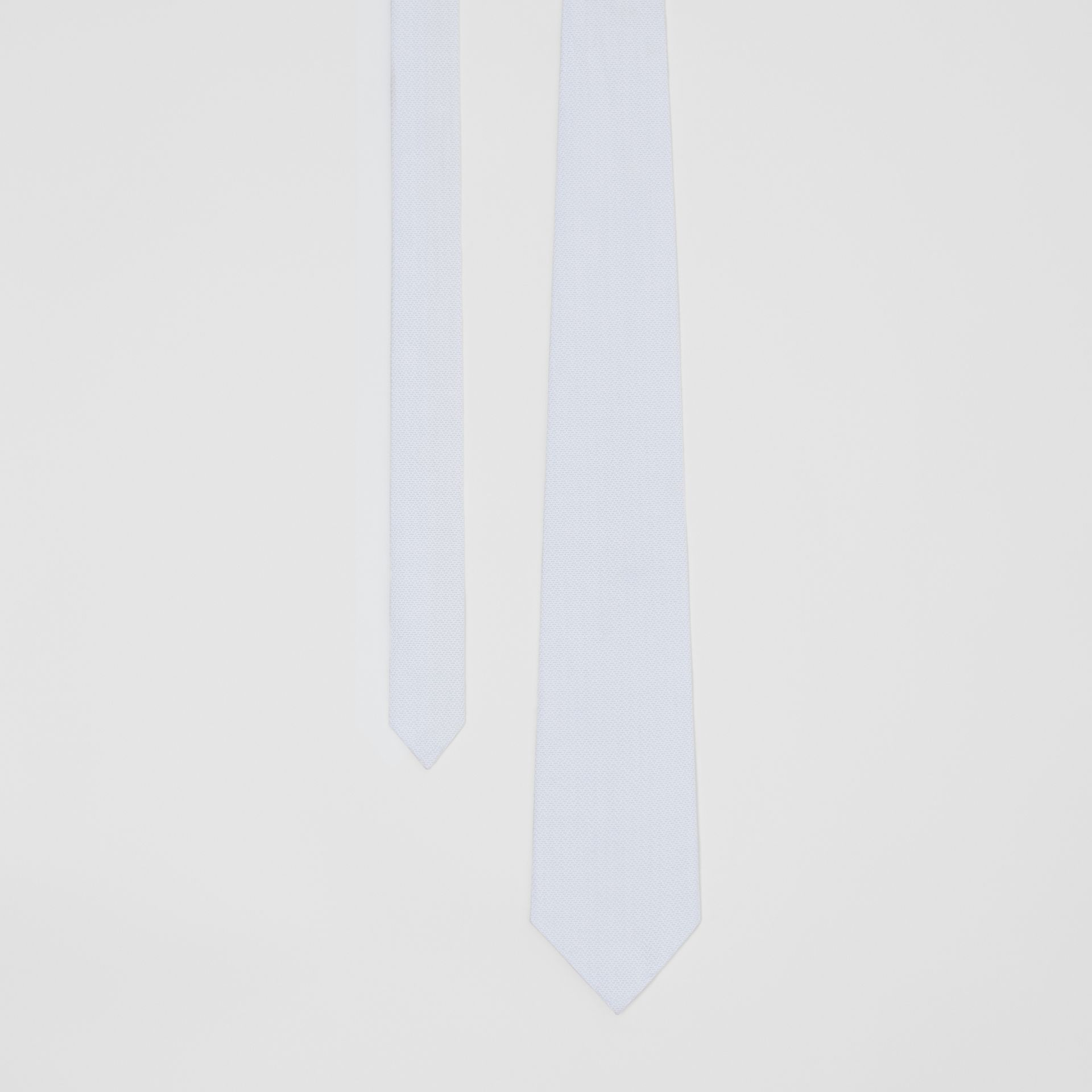 Classic Cut Geometric Print Cotton Tie in Pale Blue | Burberry - gallery image 0