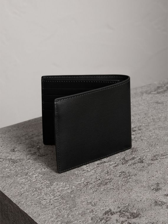 London Leather International Bifold Wallet in Black | Burberry United Kingdom - cell image 2