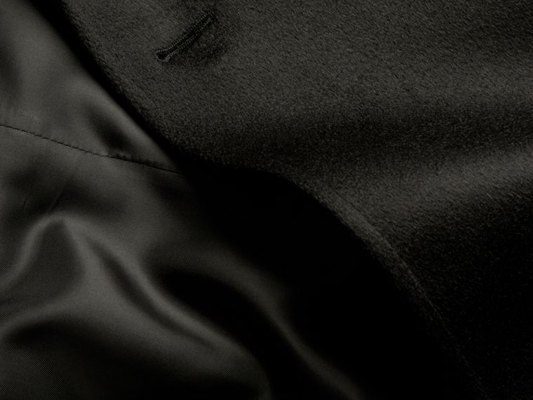 Trench coat in cashmere Nero - cell image 1