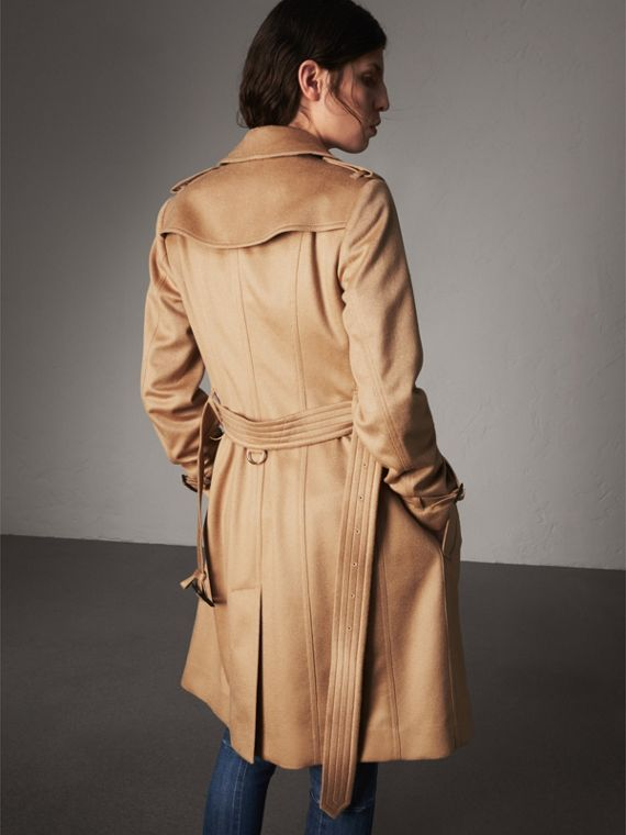 Sandringham Fit Cashmere Trench Coat in Camel - Women | Burberry Australia - cell image 2