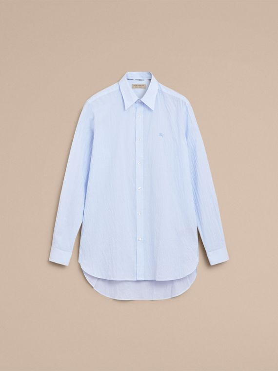 Striped Seersucker Stretch Cotton Shirt - cell image 3