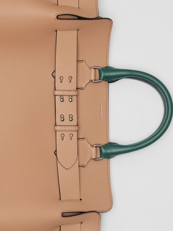 The Large Tri-tone Leather Belt Bag in Light Camel | Burberry Australia - cell image 1
