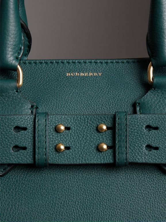 The Medium Leather Belt Bag in Dark Cyan - Women | Burberry - cell image 1
