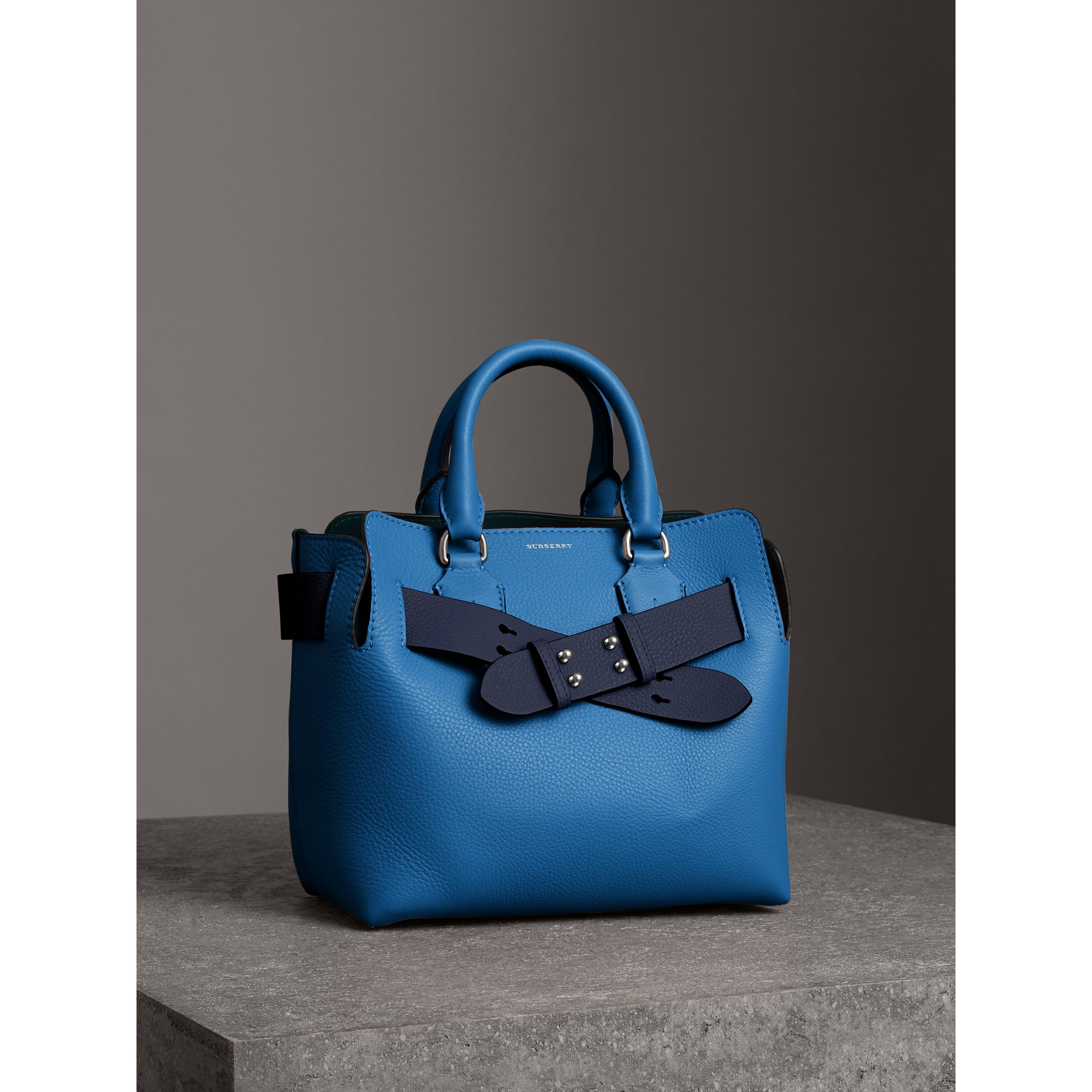 The Small Leather Belt Bag in Hydrangea Blue - Women | Burberry Singapore - gallery image 5