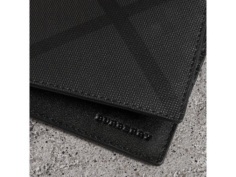 London Check Bifold Wallet with Removable Card Case in Charcoal/black - Men | Burberry Singapore - cell image 1