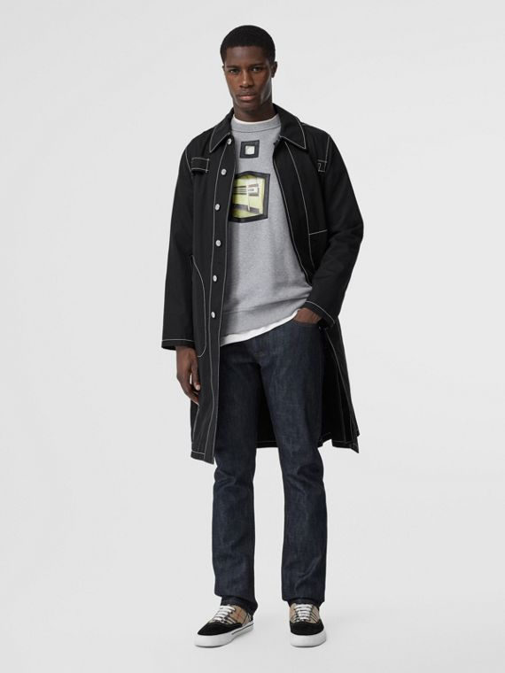 Straight Fit Japanese Selvedge Denim Jeans in Mid Indigo Blue