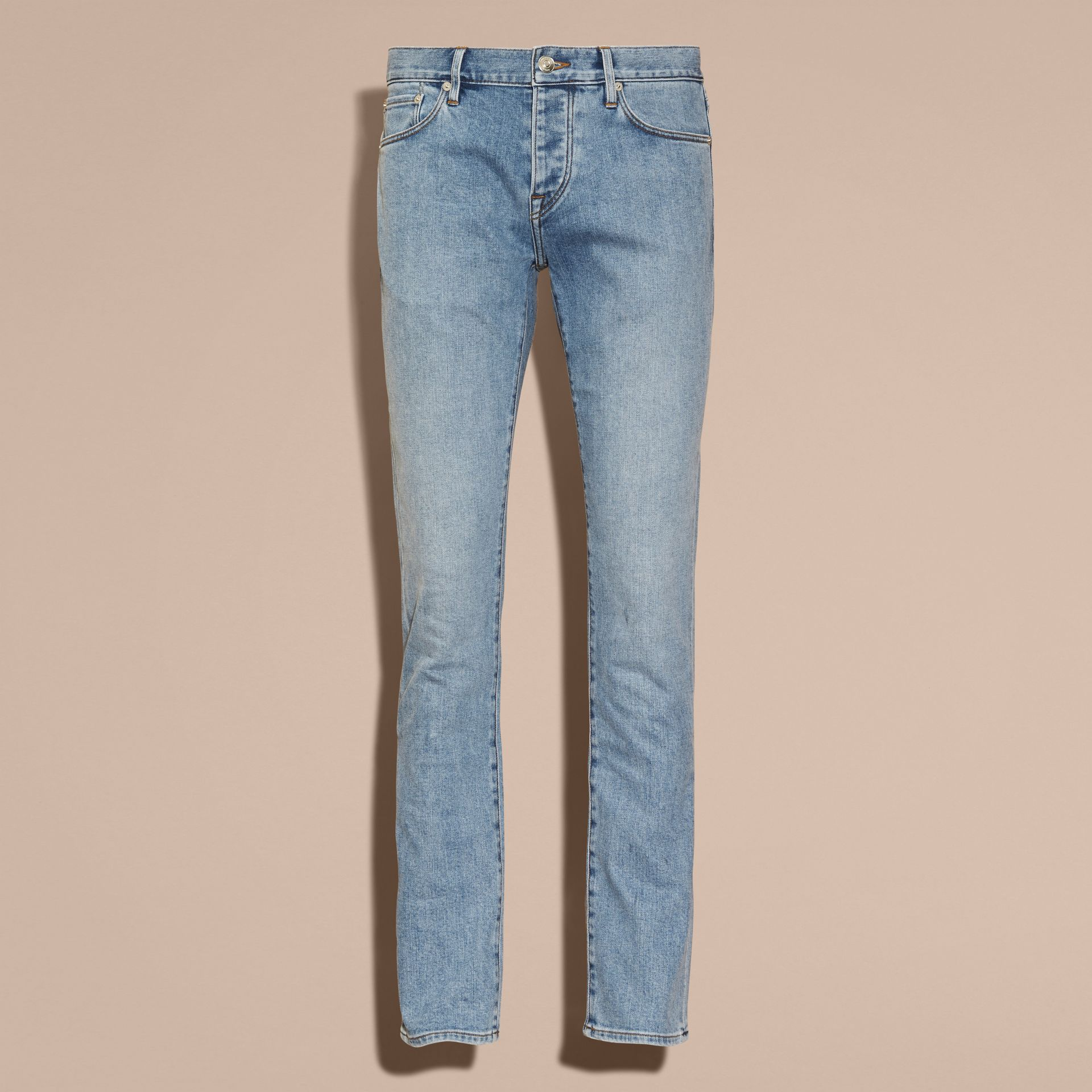 Straight Fit Comfort Stretch Japanese Denim Jeans - Men | Burberry Canada - gallery image 4
