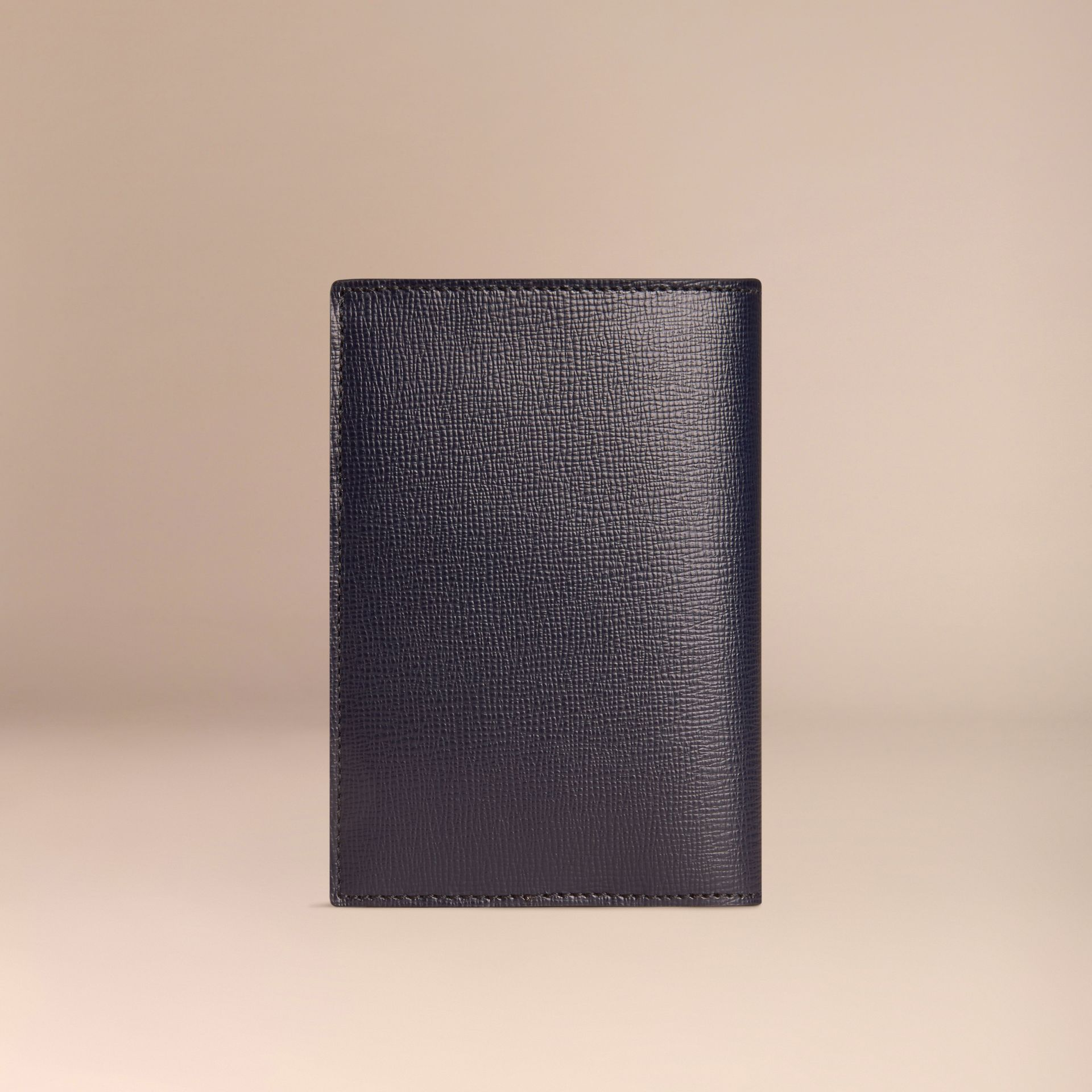Dark navy London Leather Passport Cover Dark Navy - gallery image 3