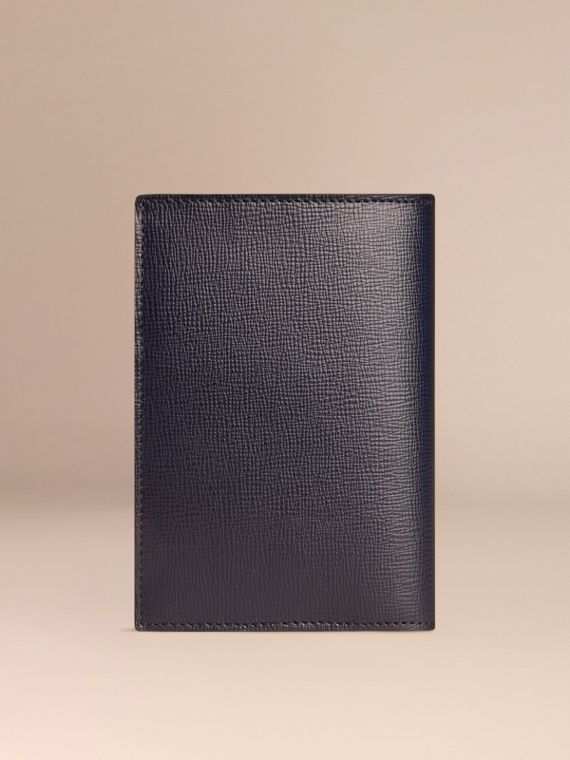 London Leather Passport Cover in Dark Navy - Men | Burberry - cell image 2