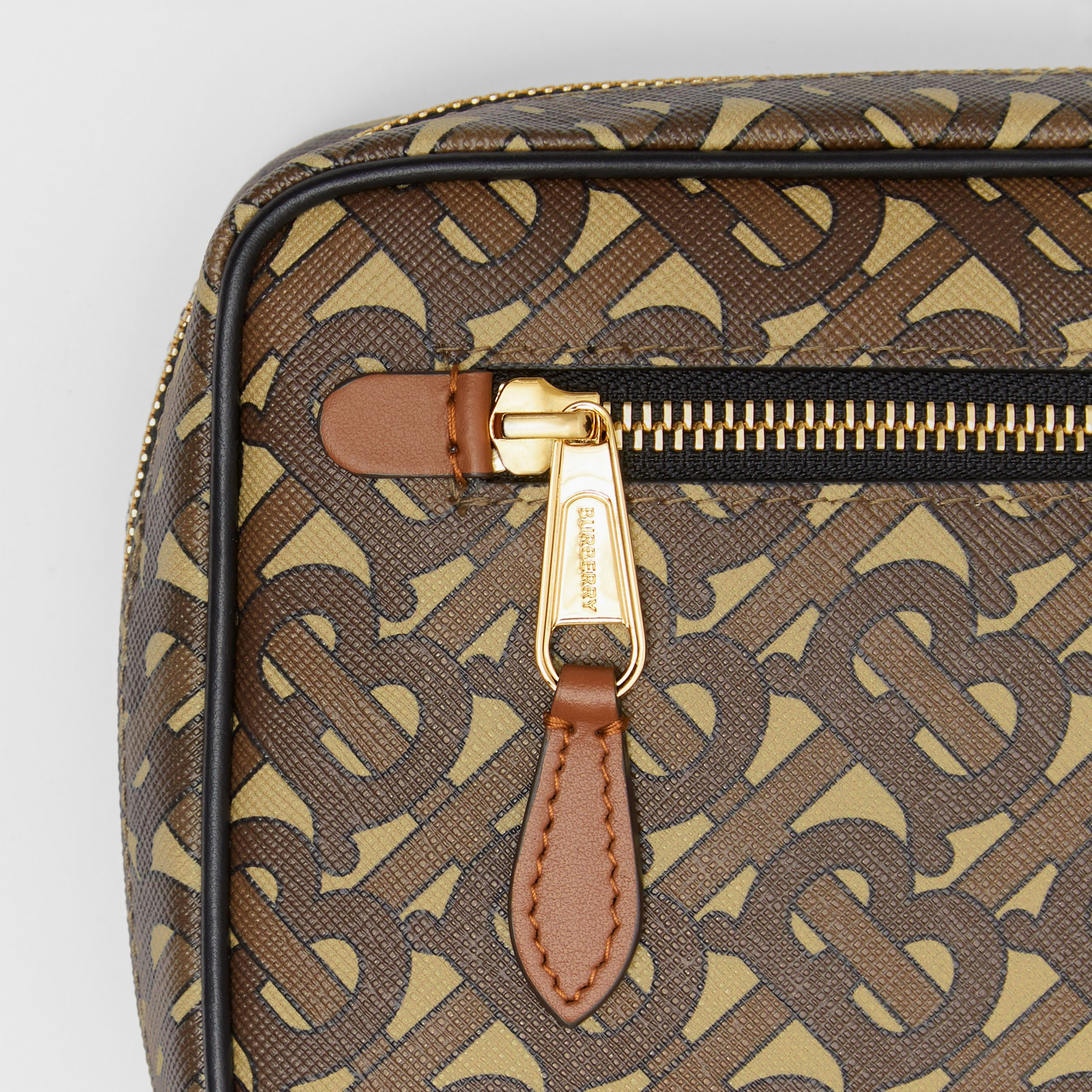 Monogram Print E-canvas Crossbody Bag in Bridle Brown - Men | Burberry - 2