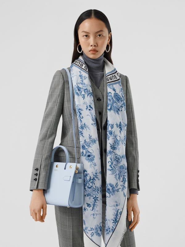 Mini Leather Title Bag in Pale Blue   Burberry United Kingdom - cell image 2
