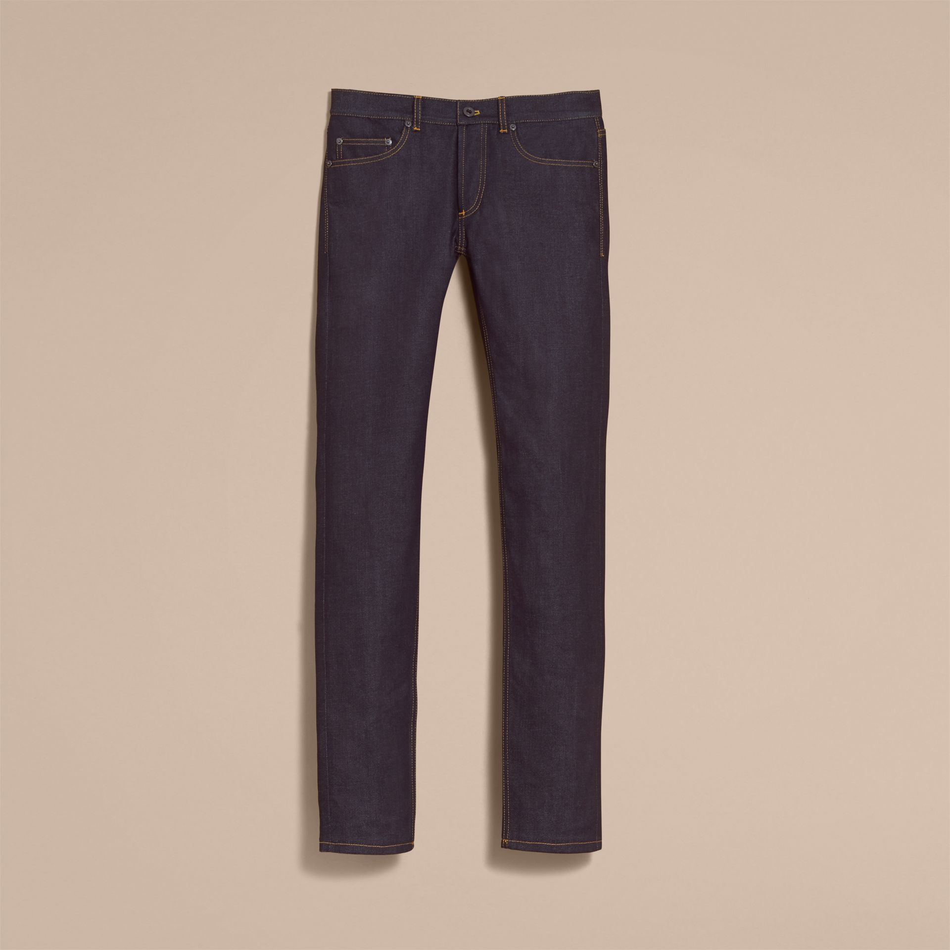 Slim Fit Raw Indigo Denim Jeans - Men | Burberry - gallery image 3