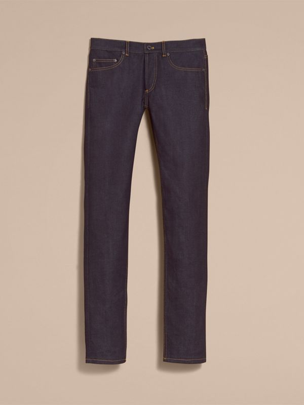 Slim Fit Raw Indigo Denim Jeans - Men | Burberry United Kingdom - cell image 3