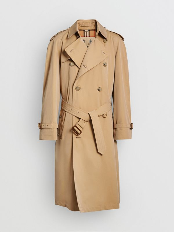 The Long Chelsea Heritage Trench Coat in Honey - Men | Burberry United Kingdom - cell image 3