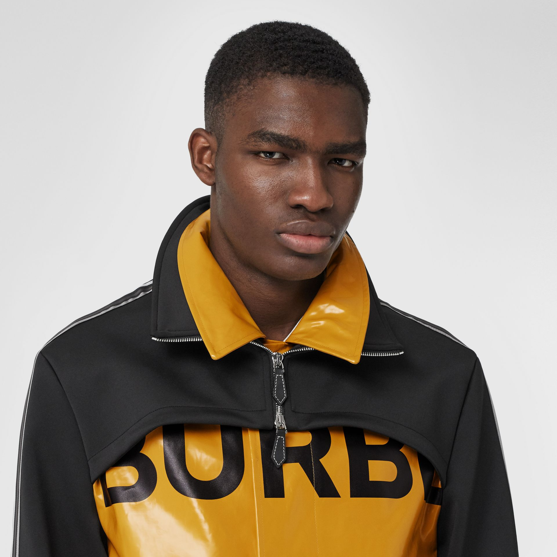 Track Top Panel Horseferry Print Car Coat in Yellow - Men | Burberry United Kingdom - gallery image 1