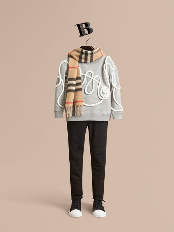 Rope Detail Brushed-back Jersey Sweatshirt - Boy | Burberry Singapore