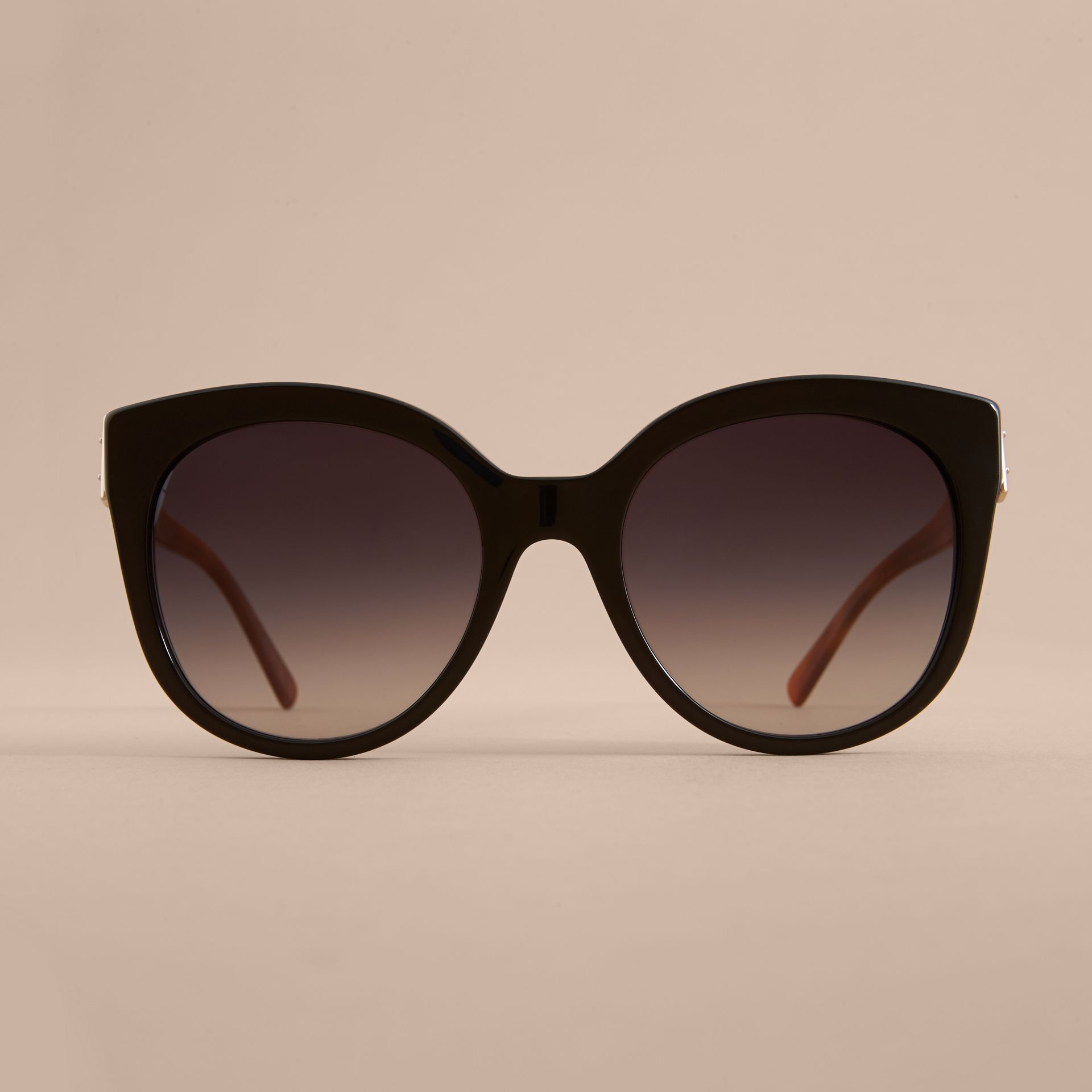 Buckle Detail Cat-eye Frame Sunglasses in Black - Women | Burberry United Kingdom - gallery image 2