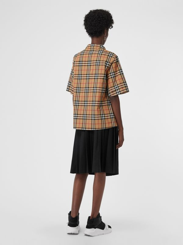 Short-sleeve Vintage Check Shirt in Antique Yellow - Women | Burberry Canada - cell image 2