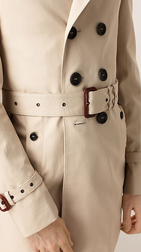 Stone Double-breasted Cotton Trench Coat - Image 4