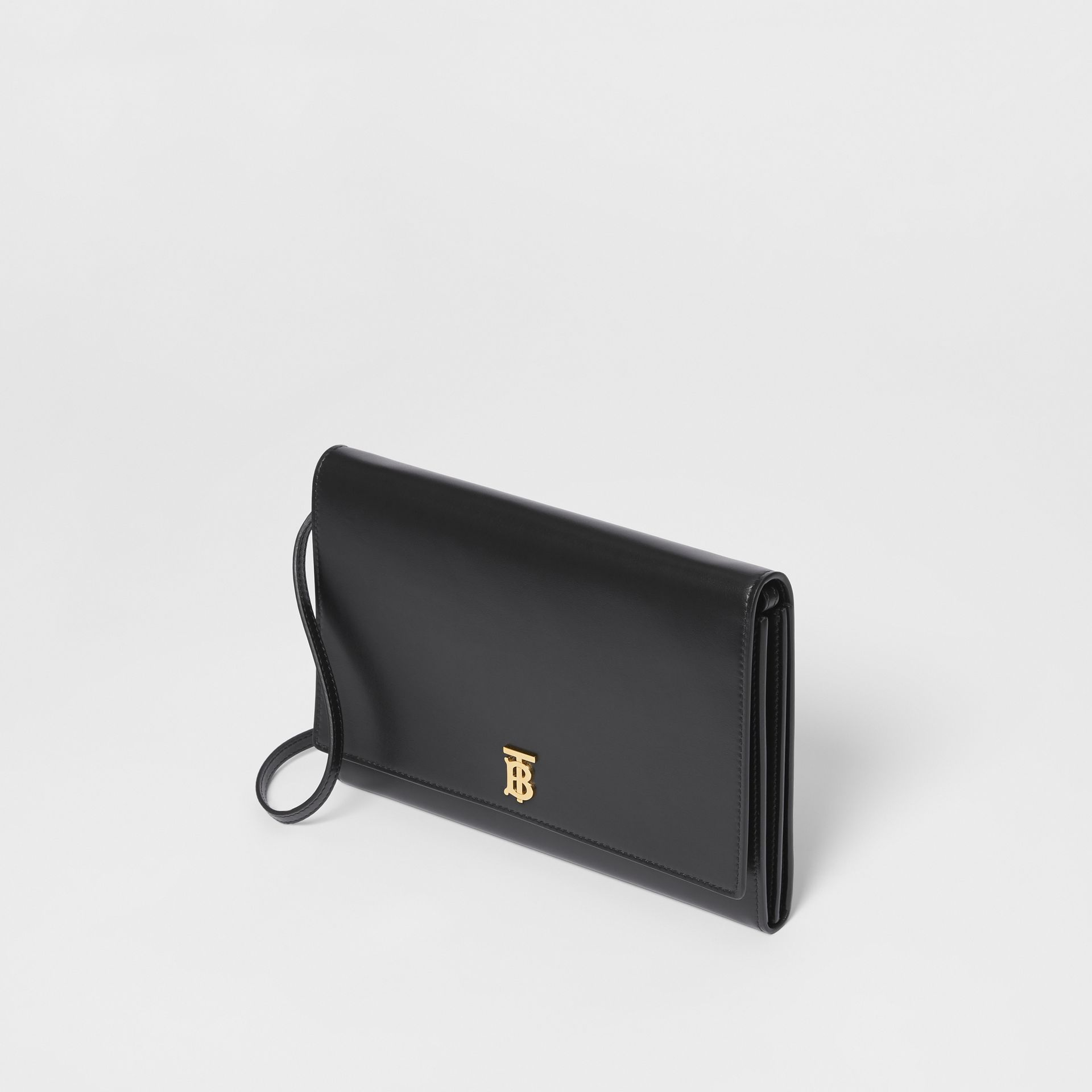 Monogram Motif Leather Bag with Detachable Strap in Black - Women | Burberry Australia - gallery image 3